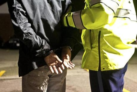 A man was arrested for drunken driving at the Everett checkpoint .