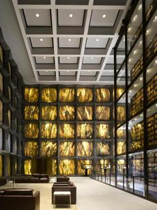 The Beinecke Rare Book and Manuscript Library.
