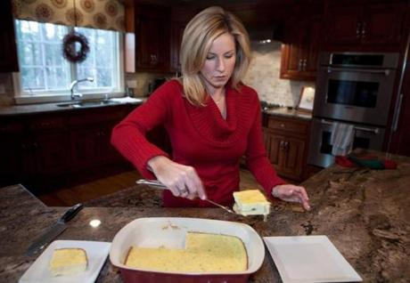 Adele Kohler plates the Southwestern egg bake she first tasted at a California B&B.