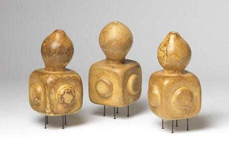 "Andrew Mowbray's gourds in ""Another Utopia."""