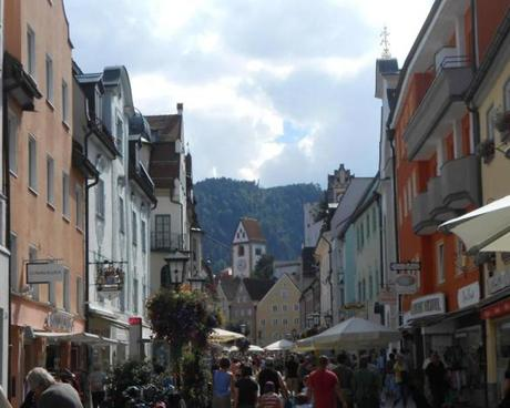 Visitors can enjoy a day exploring the shops, restaurants, and sights of Füssen, Germany.