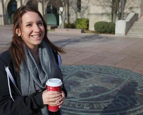 """My parents place a lof of emphasis on making sure I have an income,"" said BU student Emily Baer."