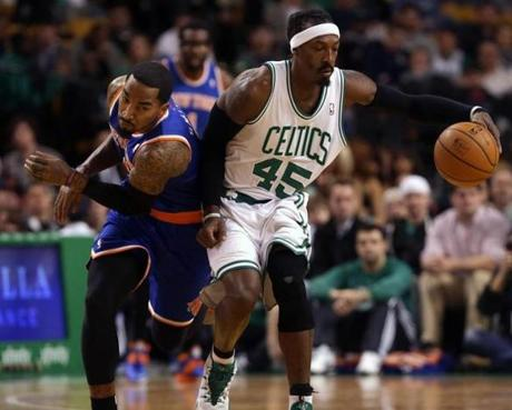Gerald Wallace stole the ball from J.R. Smith in the first half.
