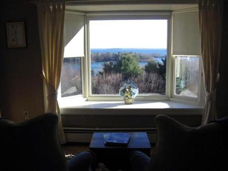 The Balmoral room looks out onto Penobscot Bay.
