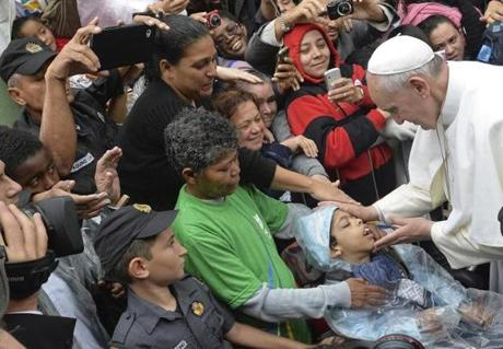 The pope, pictured during his July trip to Brazil, wants to focus more on evangelism, mercy, and care for the poor, according to O'Malley.