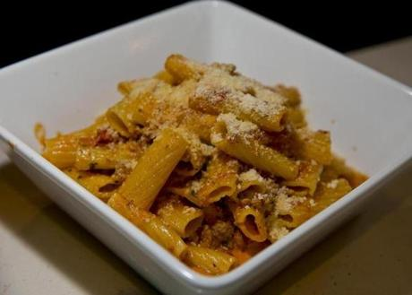 The rigatoni alla bolognse served at Crow's Landing