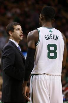 Celtics coach Brad Stevens spoke with Jeff Green.
