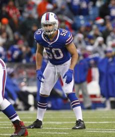 Kiko Alonso has had a big impact as a rookie.(AP Photo/Bill Wippert)