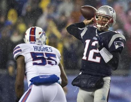 The Patriots hosted the Bills in the finale of the regular season.