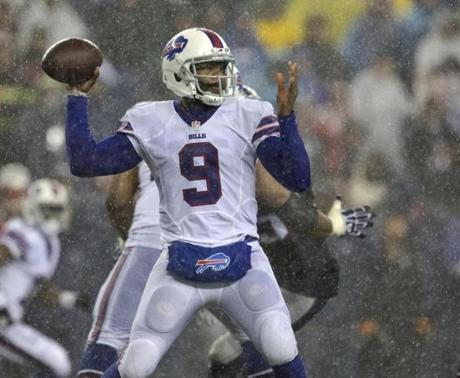 The Bills began to threaten the Patriots' lead in the second half.
