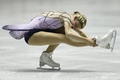 These costumes can cost thousands of dollars, and in some cases, take their inspiration directly from red carpet couture. Pictured, Gracie Gold of the United States.