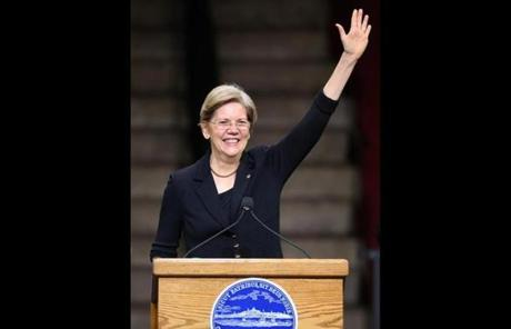 Senator Warren spoke at the inauguration.