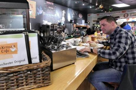 Scott Rose, a Dorchester resident, visited McKenna's Café in Savin Hill on Monday, where Walsh is a regular. Diners at the cafe described the new mayor as a neighborhood fixture with a down-to-earth quality they said would serve him well.