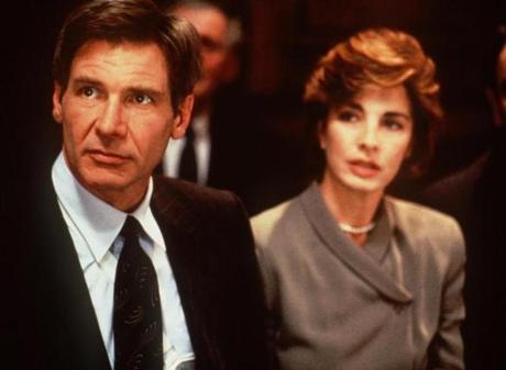 MOVIES: PATRIOT GAMES-- Harrison Ford portrays former CIA agent Jack Ryan whose family becomes the target of revenge, in the 1992 film, PATRIOT GAMES, airing on the ABC Television Network. Anne Archer stars as Dr. Catherine Ryan in this Paramount release. PHOTO CREDIT -- Paramount Pictures irishfilms Library Tag 04132008 TV Week