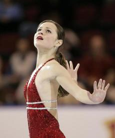 The most seasoned and well-regarded costume designer in the business, Jef Billings is a fan of the ensembles worn by Sasha Cohen (pictured) and and Mao Asada.