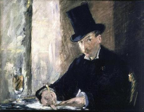 "Manet, ""Chez Tortoni"": Stolen from the Blue Room. Oil on canvas, 26 x 34 cm."