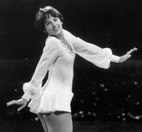 Figure skating legend and 1976 gold medalist Dorothy Hamill's first skating costume was made by her mother.