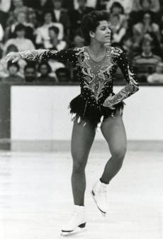 Figure skating costume design began borrowing from pop culture in the late 1970's and early 1980s. Power dressing began influencing Olympian Debi Thomas.
