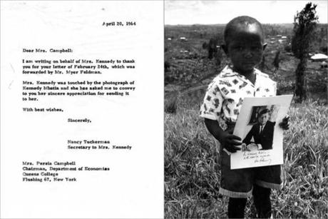 Persia Campbell of Queens College in New York sent a photo of a 2-year-old boy in Kenya named Kennedy Mbatia.