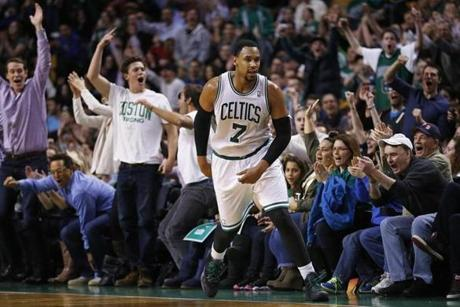 The crowd reacted after Jared Sullinger made a buzzer-beating fadeaway jumper at the end of the third quarter.