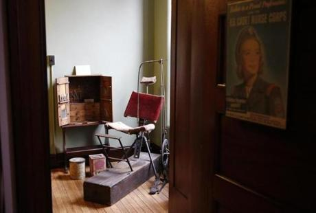 A dentist's chair is on display at the Public Health Museum