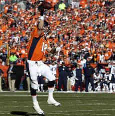 Manning completed a touchdown pass to Jacob Tamme.