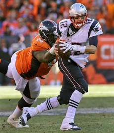 Terrance Knighton sacked Brady for a 10-yard loss.