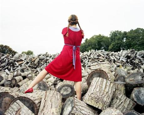 """The Red Dress, Sagaponack"" by Bastienne Schmidt."