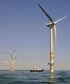 Cape Wind Associates envisions a line of wind towers set between the southern coast of Cape Cod and Nantucket.
