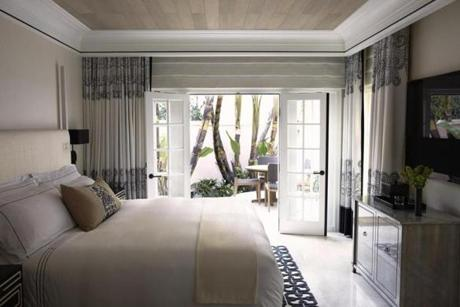 A room at the Hotel Bel-Air.