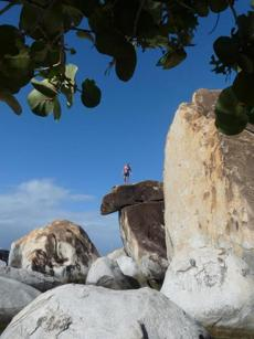 During a shore excursion to the Baths National Park on Virgin Gorda, Regatta cruise passengers explored massive granite boulders.