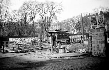 During subway construction in Boston, it was vital to businesses that trolleys still run, so people could still shop downtown.