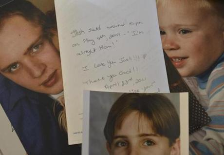 Photos of Joshua Messier, who died in 2009 while in state custody at Bridgewater.