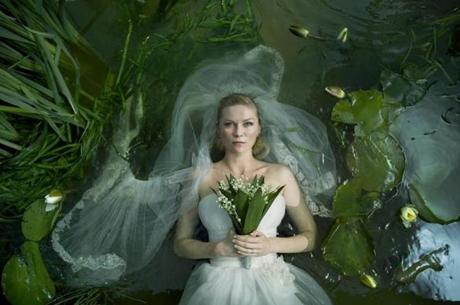 "Kirsten Dunst in his ""Melancholia."""