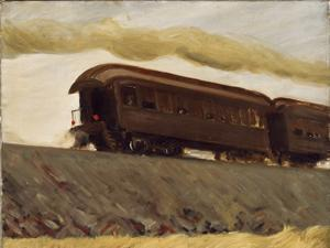 """Railroad Train"" by Edward Hopper"""