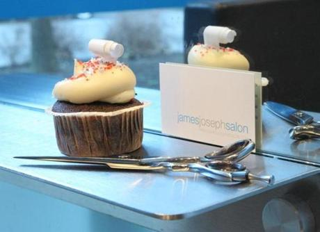 James Joseph Salon's sweet prizes from Kickass Cupcakes.
