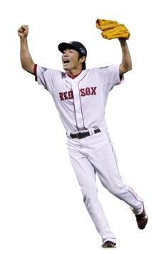 Boston Red Sox relief pitcher Koji Uehara.