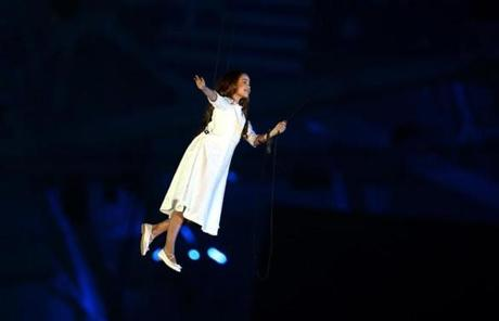 Liza Temnikova as Lyubov performed during the Opening Ceremony.