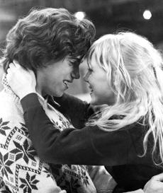 "Robby Benson and Lynn-Holly Johnson in ""Ice Castles.''"