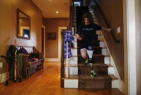 Jane ran down the stairs at home. Back at school, her teachers marveled at her resilience; Jane didn't dwell on her limitations and even hoped to play soccer that fall.