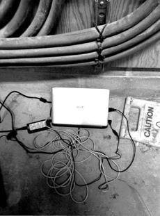 After A laptop Aaron Swartz was accused of setting up to download JSTOR articles was found in a wiring closet at MIT, investigators left the computer up and running and installed a hidden camera.