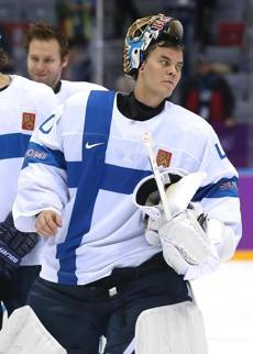 Tuukka Rask traded his Bruins sweater for Finland's colors, and his country beat Austria, 8-4.