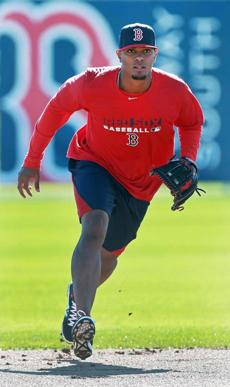 Shortstop Xander Bogaerts took some ground balls in the morning workout.