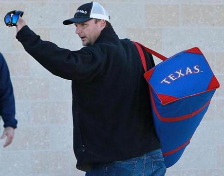 New Red Sox catcher A.J. Pierzynski arrived in Fort Myers on Friday for spring training.