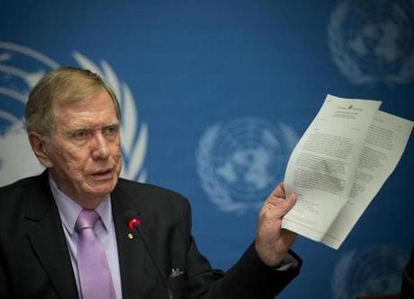 Chairman of a three-member UN commission of inquiry, retired Australian judge Michael Kirby, directly warned Kim that international prosecution is needed ''to render accountable all those, including possibly yourself, who may be responsible for crimes against humanity.''