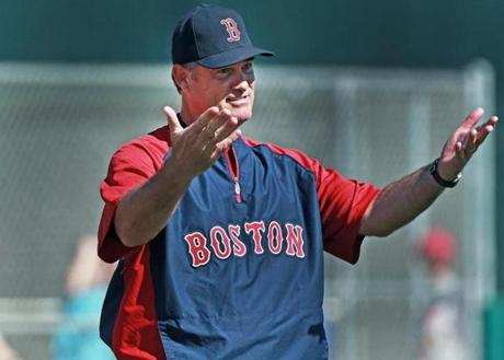 John Farrell seemed to be enjoy the first official workout of his second season at the helm.