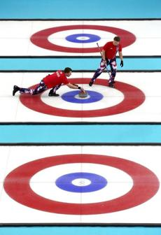 Norway's curlers tried to stay on target, but they wound up being elimimated by Britain in a tiebreaker match.