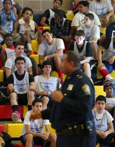 The games brought kids and teens from communities throughout Suffolk County together with prosecutors, police, and other advocates.