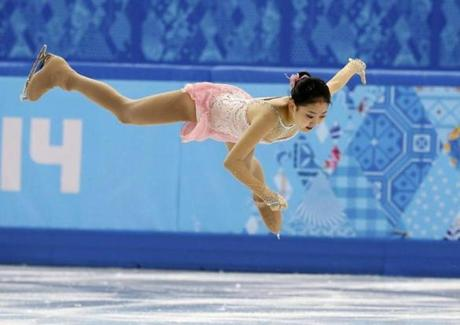 China's Li Zijun seems to float on air during the free skate.