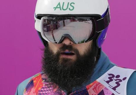 Did a member of the 2013 Red Sox make it to Sochi? No, it's Australia freestyle skier Anton Grimus.